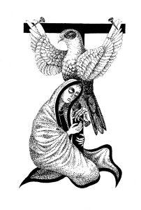 """Latviško """"Ragana ir lietus"""" leidimo iliustracijos"""