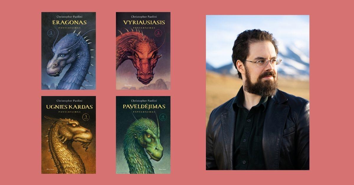 """""""Eragono"""" autorius Christopheris Paolini: """"Niekada nesu skridęs ant drakono. Apmaudu"""""""