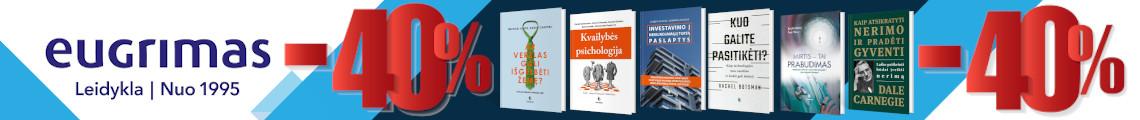 """Leidyklos """"Eugrimas"""" knygos 40% pigiau"""