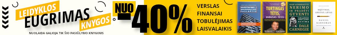 "Leidyklos ""Eugrimas"" knygos NUO -40% pigiau!"
