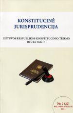 Konstitucinė jurisprudencija Nr. 2 (22) Balandis - Birželis 2011 |