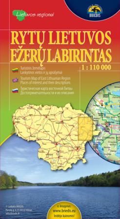 Rytų Lietuvos ežerų labirintas 1:110000 |