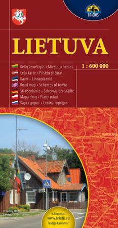 Lietuva. Kelių žemėlapis 1:600000 |