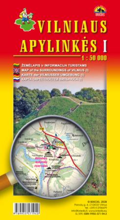 Vilniaus apylinkės I. Žemėlapis 1:50000  