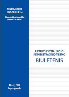 Lietuvos vyriausiojo administracinio teismo biuletenis Nr. 22 |