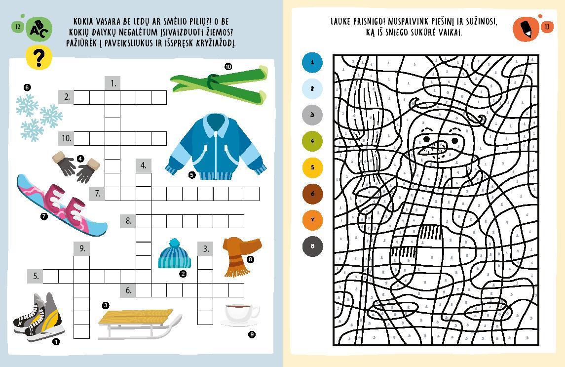 Didelė, stora, spalvota užduočių knyga | Miglė Janušauskienė