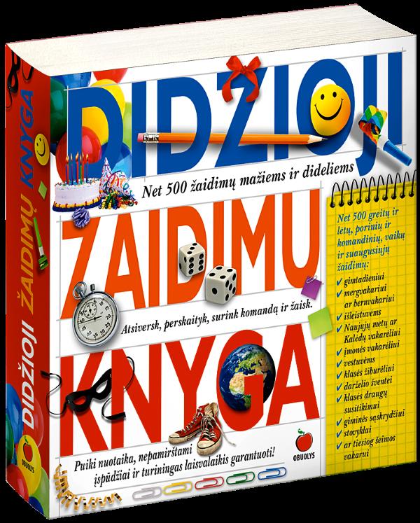 Didžioji žaidimų knyga (naujas leidimas) | Jurgita Jėrinaitė