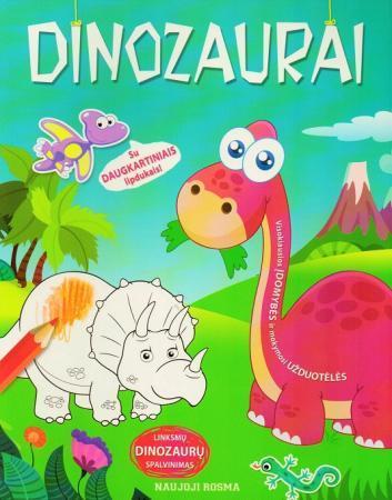 Dinozaurai. Spalvinimo ir užduotėlių knygelė |