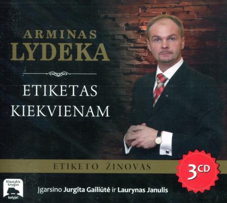 Etiketas kiekvienam (garso knyga, 3 CD)   Arminas Lydeka