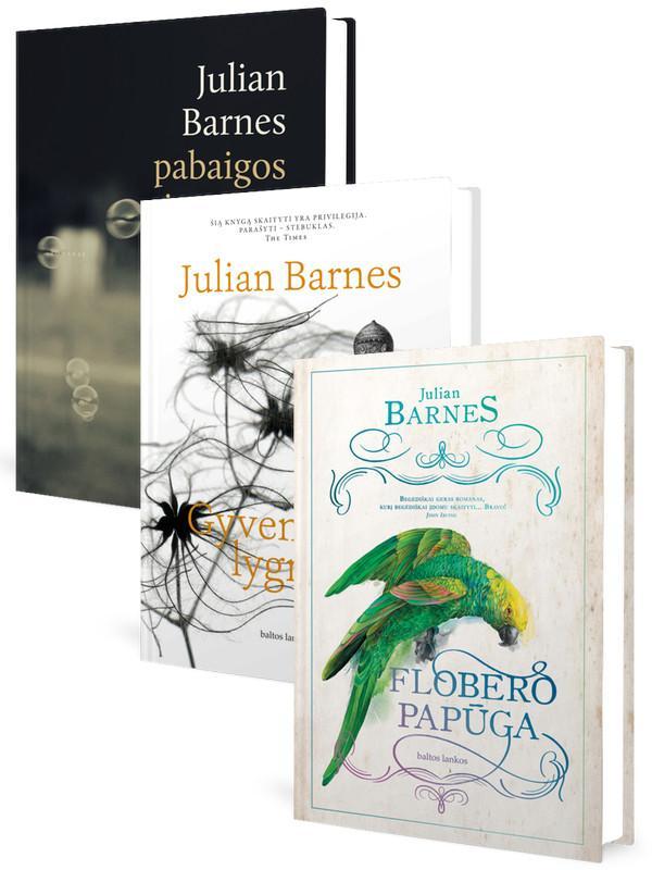 KOMPLEKTAS. Trys J. BARNES romanai: Flobero papūga + Gyvenimo lygmenys + Pabaigos jausmas | Julian Barnes