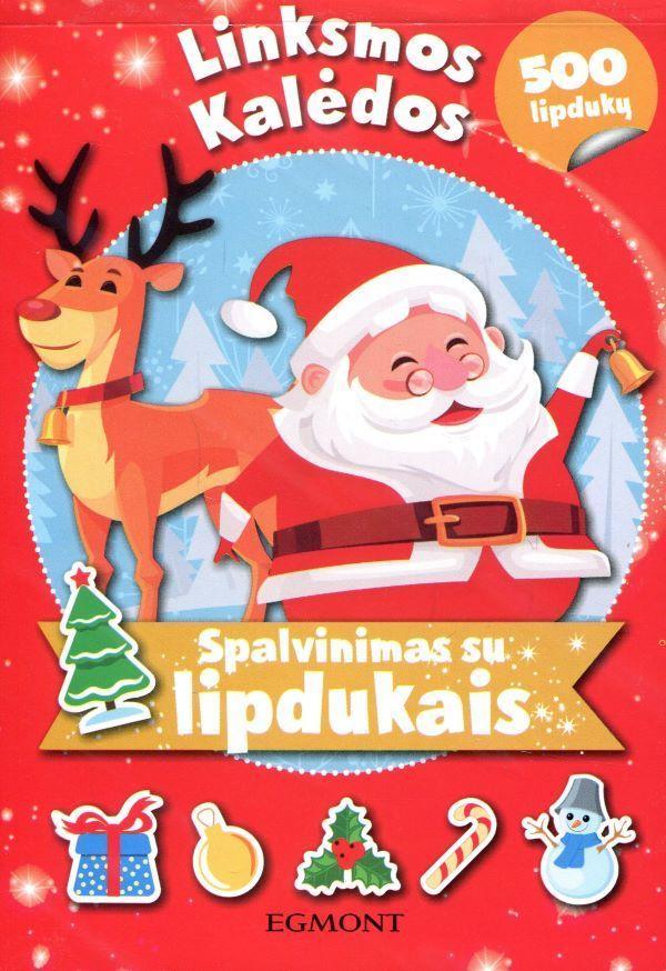 Linksmos Kalėdos. Spalvinimas su lipdukais (500 lipdukų) |