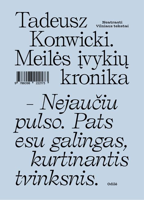 Meilės įvykių kronika | Tadeusz Konwicki