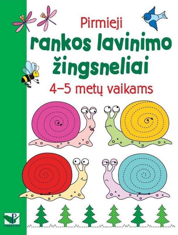 Pirmieji rankos lavinimo žingsneliai 4-5 metų vaikams  