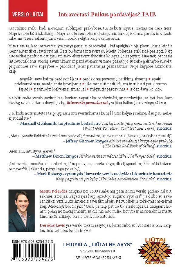Intraverto pranašumai: kuklūs parduoda daugiau | Derek Lewis, Matthew Pollard