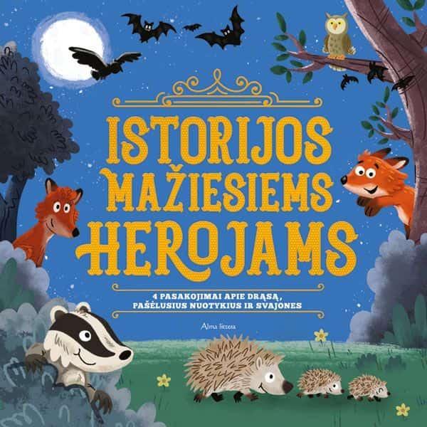 Istorijos mažiesiems herojams. 4 pasakojimai apie drąsą, pašėlusius nuotykius ir svajones  