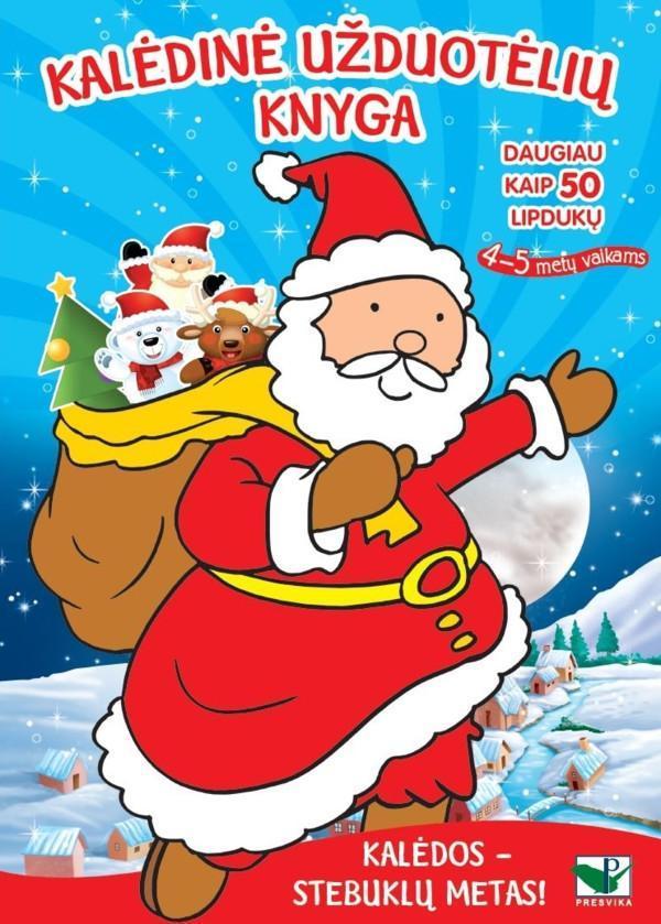 Kalėdinė užduotėlių knyga. Daugiau kaip 50 lipdukų (4-5 metų vaikams) |