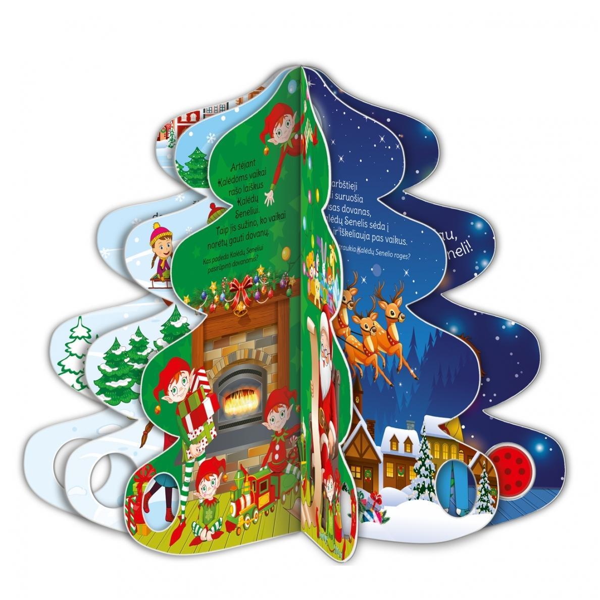 Kalėdų eglutė. Knyga-eglutė su garsais 2-3 metų vaikams |