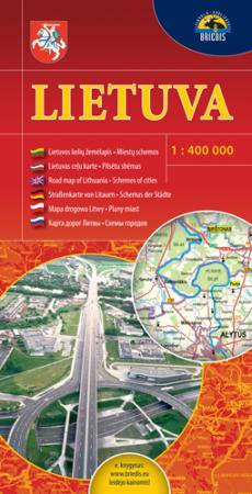 Lietuva. Kelių žemėlapis 1:400000 |