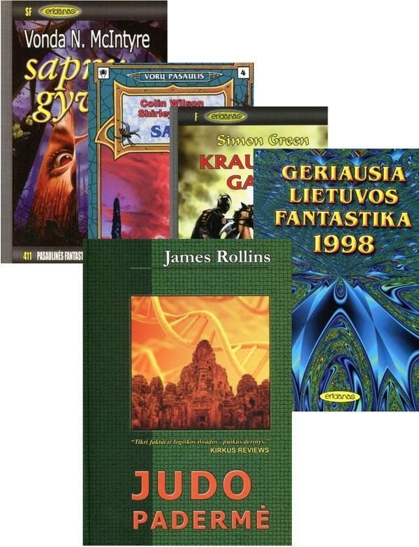 KOMPLEKTAS. ERIDANO fantastikos komplektas (5 knygos už 3 knygų kainą) |