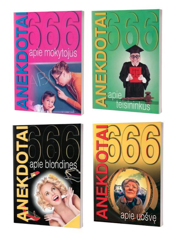 KOMPLEKTAS. 4 x 666 anekdotai: apie blondines, apie uošvę, apie daktarus ir apie teisininkus |