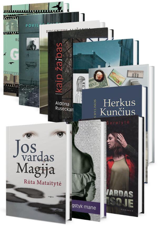 KOMPLEKTAS. LIETUVIŠKAS SUVOŽTINIS. Lietuvių autorių kūryba: 5 romanai ir 1 esė knyga |