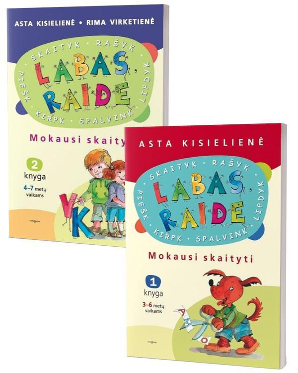 KOMPLEKTAS. Labas, raide. Mokausi skaityti (1 ir 2 knyga) | Asta Kisielienė, Rima Virketienė
