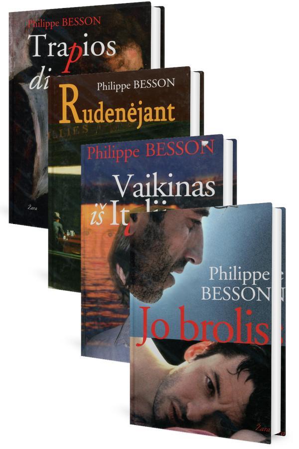 KOMPLEKTAS. Prancūzų rašytojas Philippe'as Bessonas (4 romanai) | Ph. Besson
