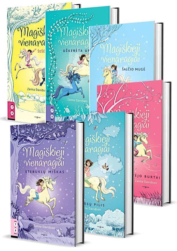 KOMPLEKTAS. Magiškieji VIENARAGIAI (6 knygos 7-9 metų vaikams) | Zanna Davidson