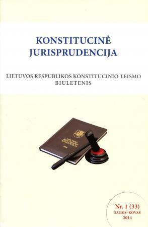 Konstitucinė jurisprudencija Nr. 1 (33) Sausis - Kovas 2014  