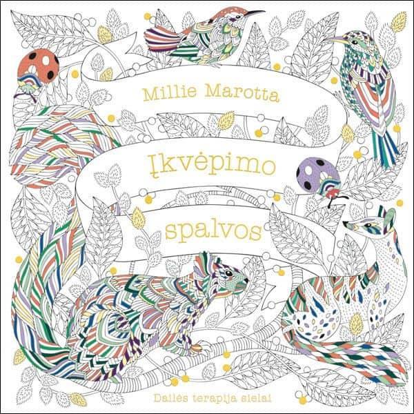 Įkvėpimo spalvos. Dailės terapija sielai | Millie Marotta