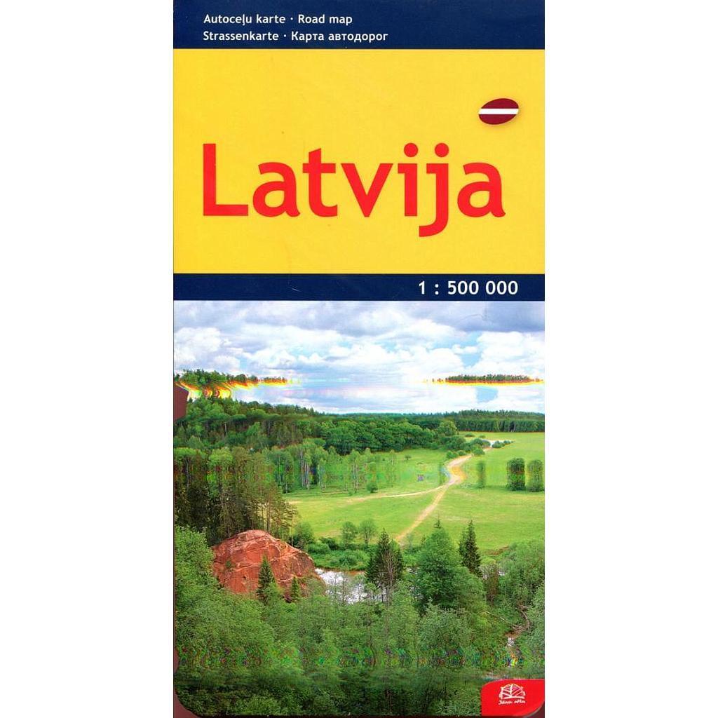 Latvia. Kelių žemėlapis  