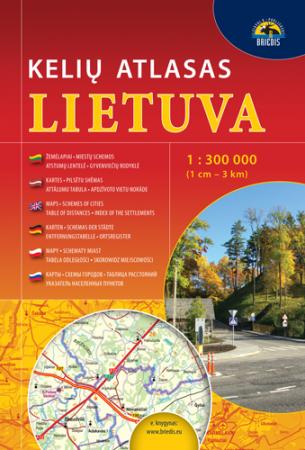 Lietuva. Kelių atlasas 1:300000  