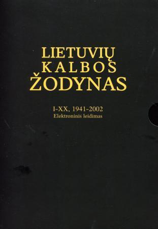 Lietuvių kalbos žodynas, I-XX tomai (1941-2002). Elektroninis leidimas (USB) |