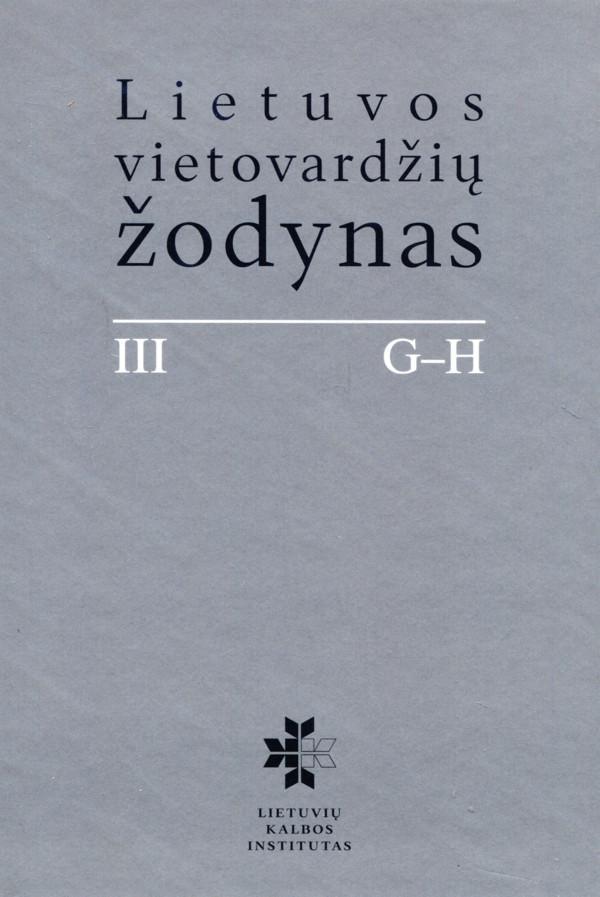 Lietuvos vietovardžių žodynas (III tomas) |