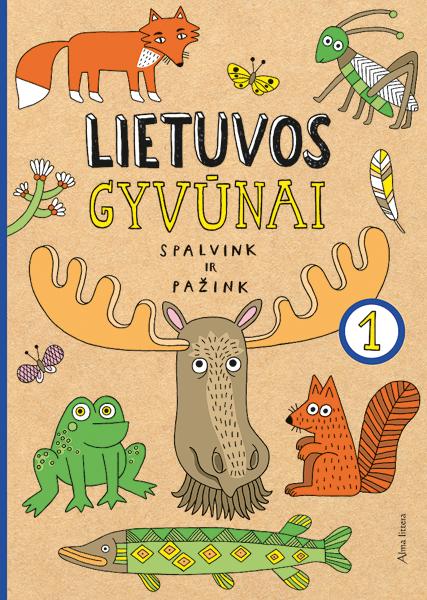 Lietuvos gyvūnai. Spalvink ir pažink, 1 dalis |