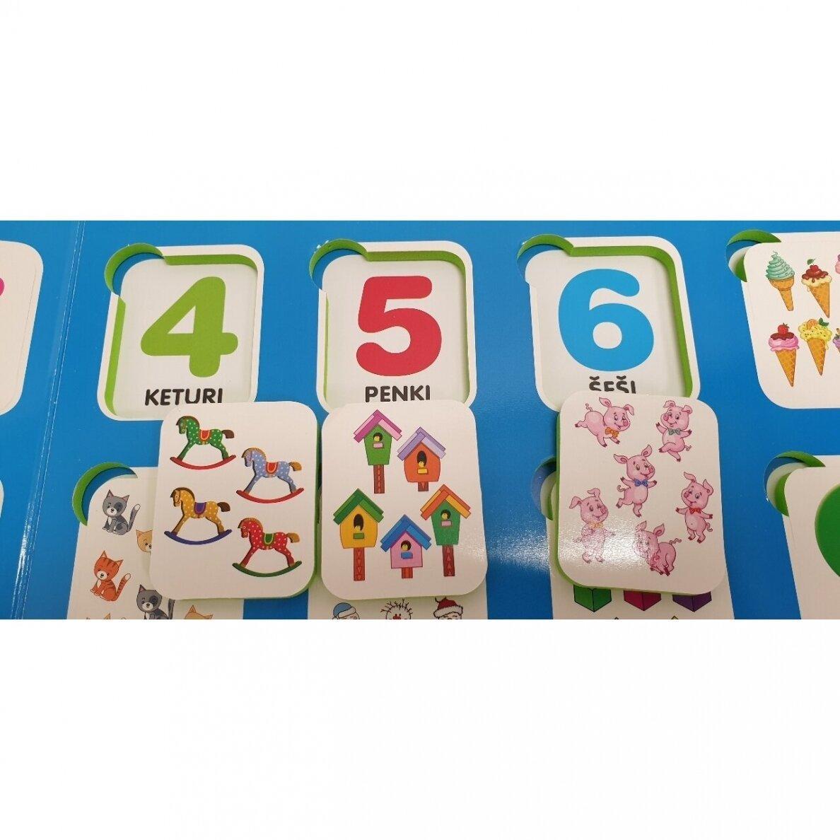Mano pirmieji skaičiai su užduotėlėmis. 4-5 metų vaikams  