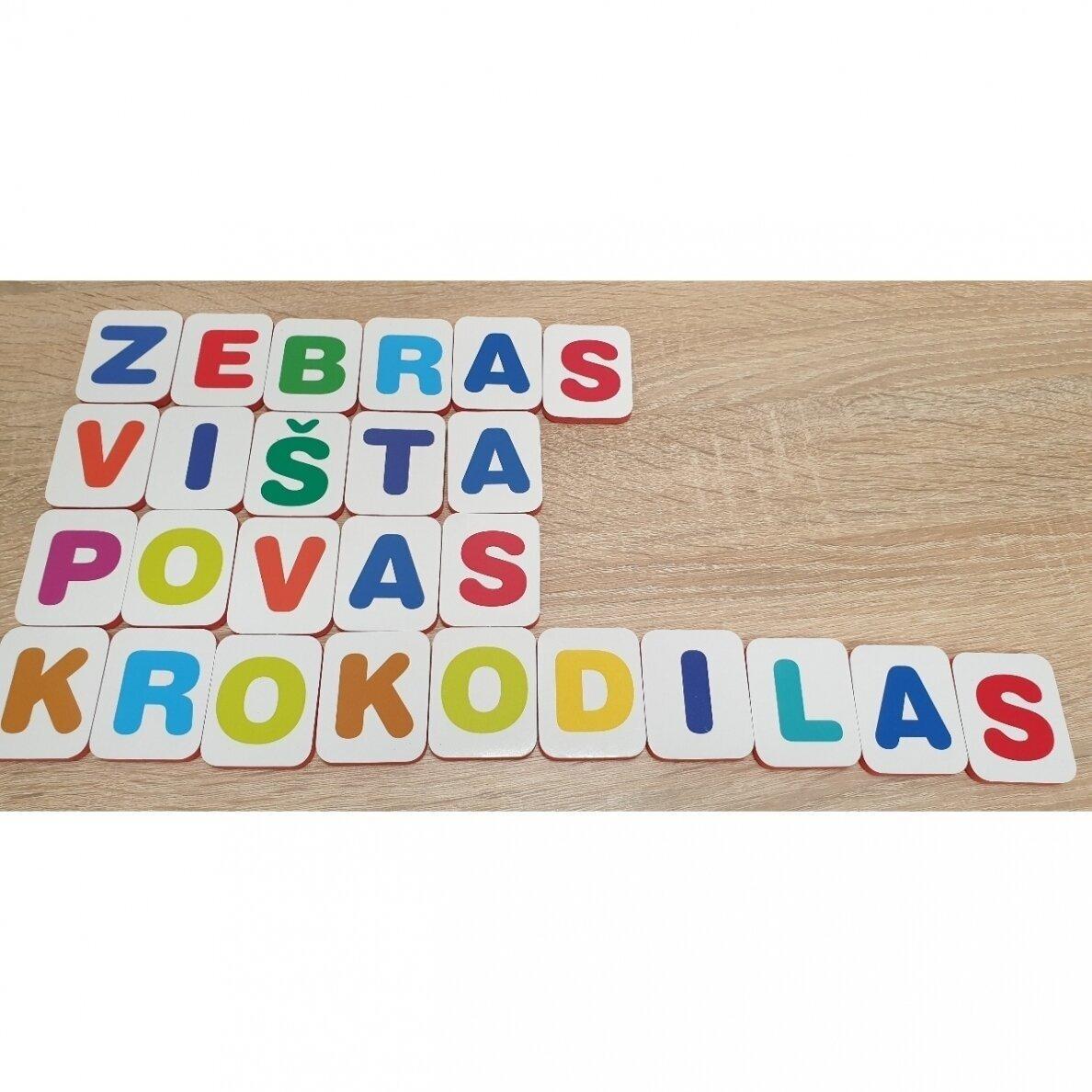 Mano pirmosios raidės su užduotėlėmis. 4-5 metų vaikams |
