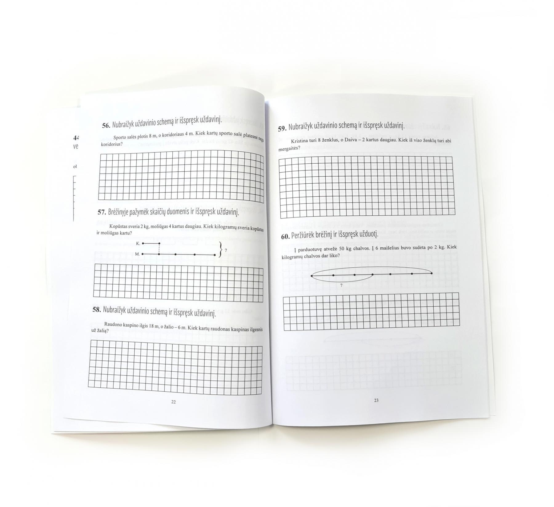 Matematika. Tekstiniai uždaviniai. 2 klasė II dalis. Daugyba ir dalyba   Reda Jaseliūnienė