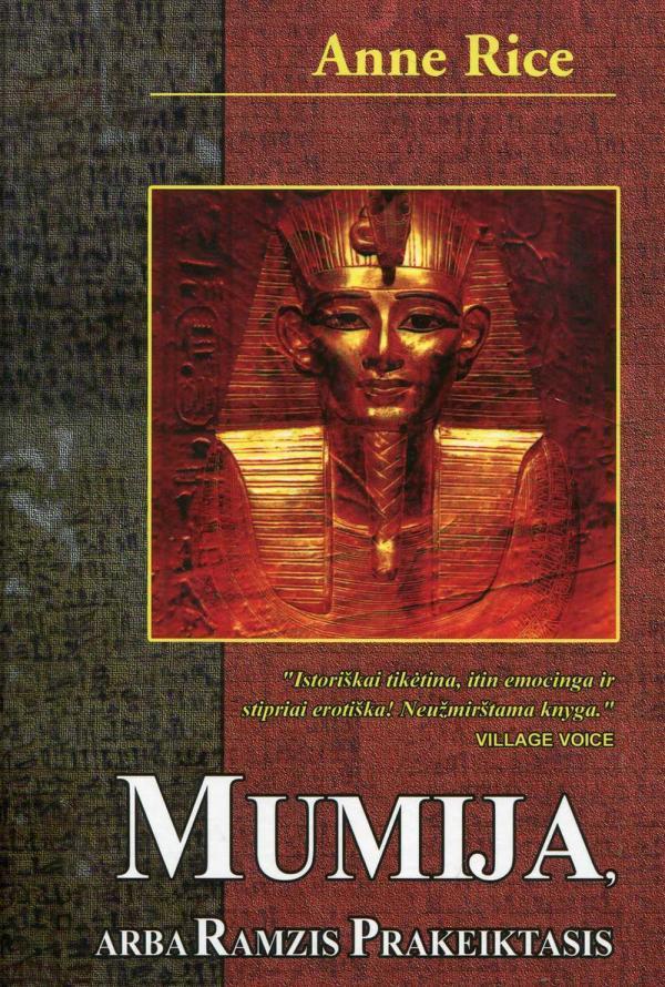 Mumija, arba Ramzis Prakeiktasis | Anne Rice