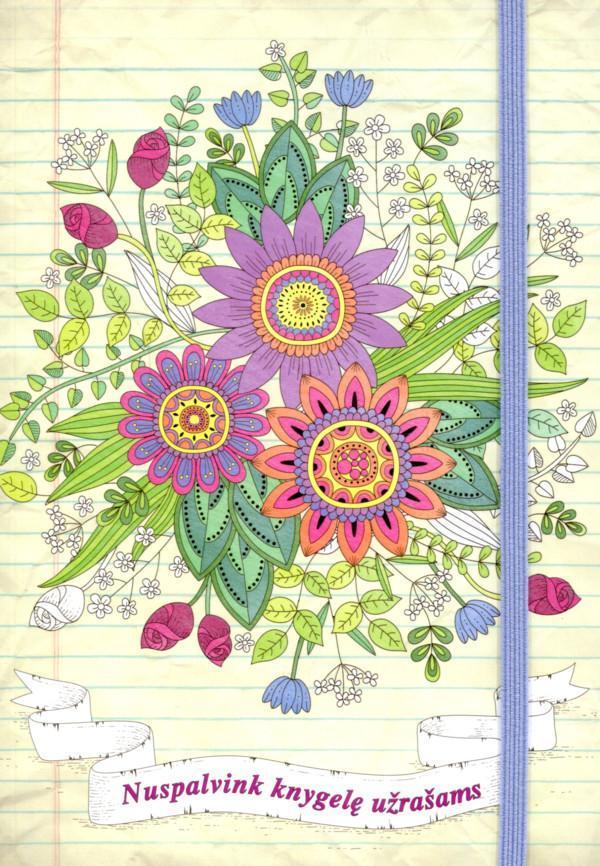 Gėlės. Nuspalvink knygelę užrašams  