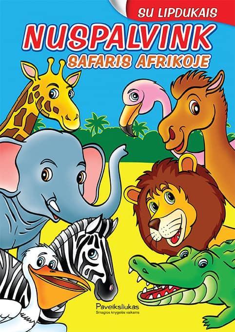 Nuspalvink. Safaris Afrikoje (su lipdukais) |