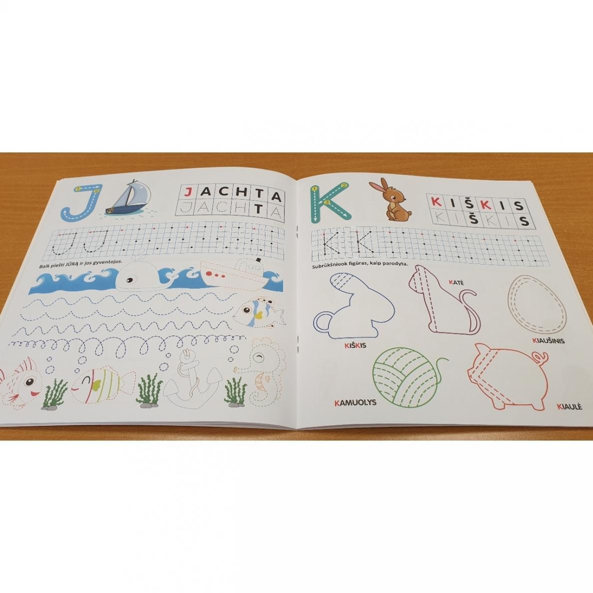 Pažink ir rašyk raides. 5-6 metų vaikams |