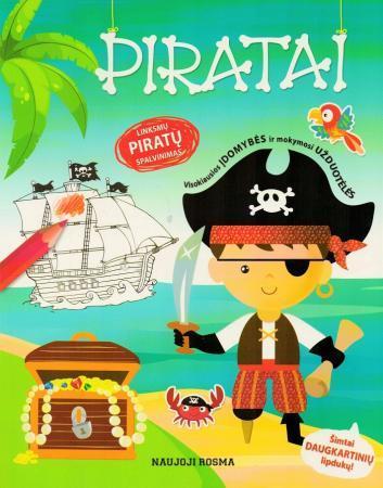 Piratai. Spalvinimo ir užduotėlių knygelė |