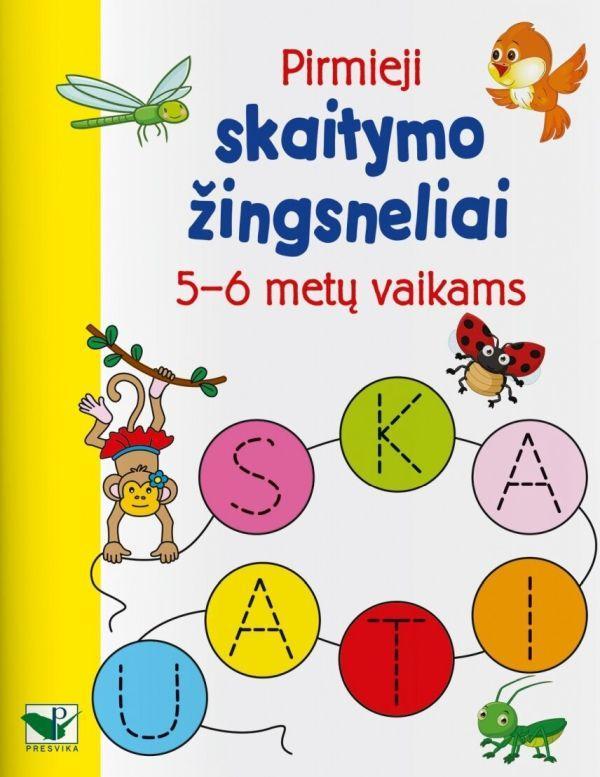 Pirmieji skaitymo žingsneliai. 5–6 metų vaikams |