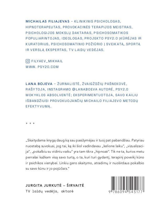 Kita psichosomatikos pusė. PSY2.O mąstymas | Lana Bojeva, Michailas Filiajevas