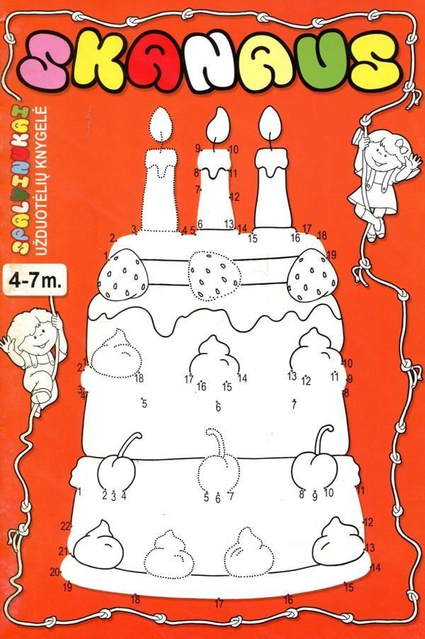 Skanaus. Užduotėlių knygelė 4-7 m. vaikams |