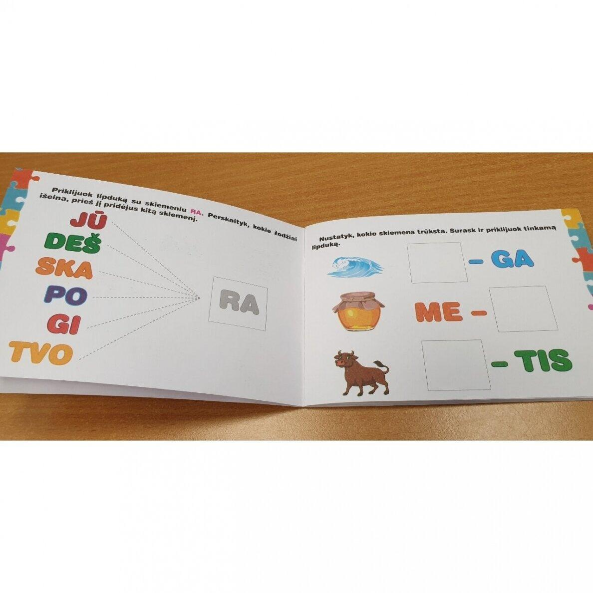 Skiemenų dėlionė ir užduočių knygelė su 40 lipdukų 5–6 metų vaikams |