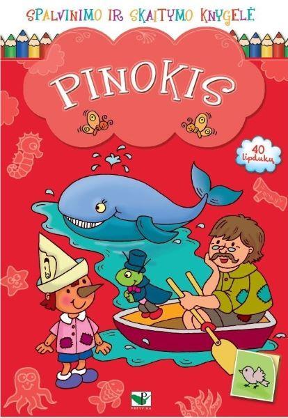 Spalvinimo ir skaitymo knygelė. Pinokis |