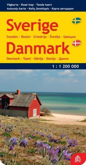 Švedija. Danija. Kelių žemėlapis  