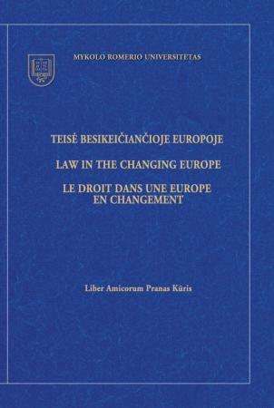 Teisė besikeičiančioje Europoje. Liber amicorum Pranas Kūris   Autorių kolektyvas